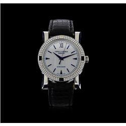 Cuervo y Sobrinos Stainless Steel 1.04 ctw Diamond Habana Torpedo Watch