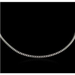 "16"" Spiga Chain Necklace - 14KT White Gold"