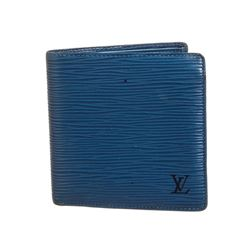 Louis Vuitton Blue Epi Leather Marco Bifold Wallet