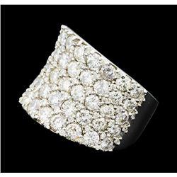 5.03 ctw Diamond Ring - 18KT White Gold