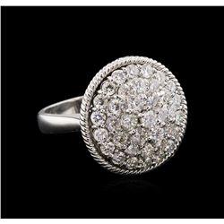 2.09 ctw Diamond Ring - 14KT White Gold