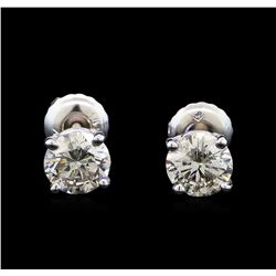 1.25 ctw Diamond Stud Earrings - 14KT White Gold