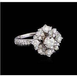 1.72 ctw Diamond Ring - 14KT White Gold