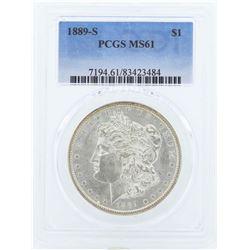 1889-S $1 Morgan Silver Dollar Coin PCGS MS61