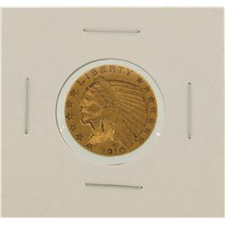 1910-S $5 Indian Head Half Eagle Gold Coin