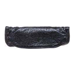 Jamin Puech Blue Metallic Leather Clutch