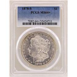 1878-S $1 Morgan Silver Dollar Coin PCGS MS64+