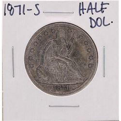 1871-S Liberty Seated Half Dollar Coin