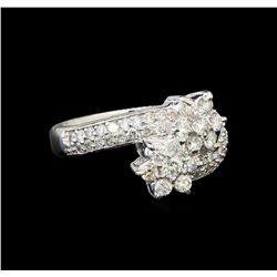 14KT White Gold 1.10 ctw Diamond Ring