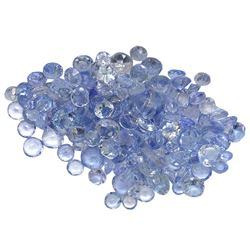 8.74 ctw Round Mixed Tanzanite Parcel