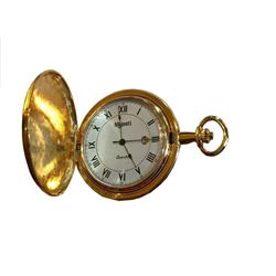 Modern Gold Plated Pocket Watch
