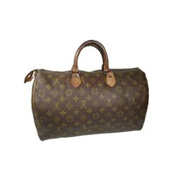 Auth Louis Vuitton Vintage Handbag Speedy 35 Monogram Canvas Before 1980s