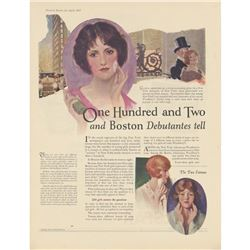 1925 Boston & Nyc Debutantes, Woodbury's Soap Ad