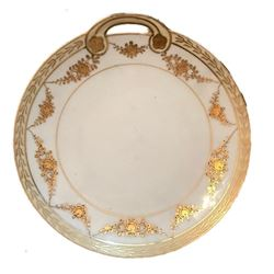 Antique Japanese Nippon Gold Handled Dish