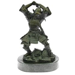 SAMURAI WARRIOR GENUINE HOTCAST PURE BRONZE STATUE ART