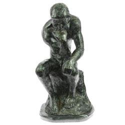 Massive Extra Large Rodin Thinker Famous Work Artwork Bronze Sculpture Marble NR