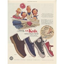 1950's Keds Shoes Magazine Advertisement
