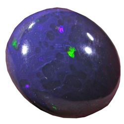 8.6 cts Australian Lightning Ridge Blue Black Opal