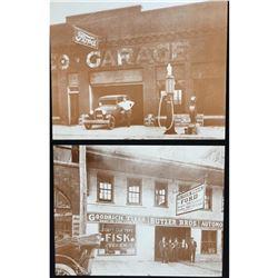 Sepia Tone Photo Prints, Ford Motor Cars