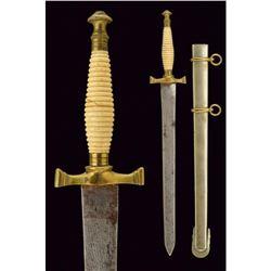 19thc Spanish Daga Da Cadetto Blade