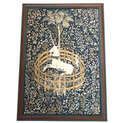 Fabulous, original Unigoat Tapestry in Frame