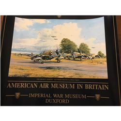 American air museum in Britain poster