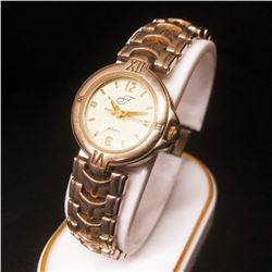 Ladies Stainless Steel Bezel Quartz Watch