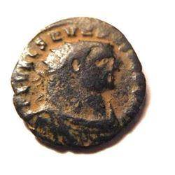 Bronze Coin of Severus II: 305-307 A.D. A.D. - Scarce