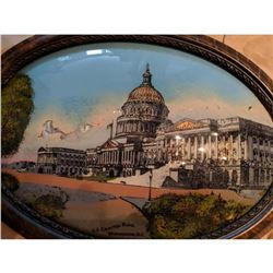 U.S. Capitol Building in Washington D.C. - Rare Inverted Hand Painting