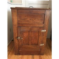 Antique Wooden Ice Box 'Refrigerator'