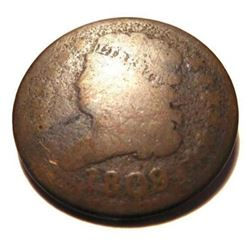 Two (2) Early U. S. Half Cents - 1809
