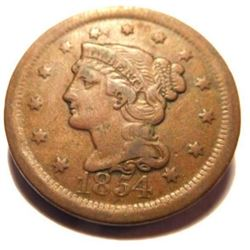 1854 U.S. Large Cent