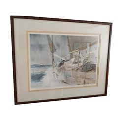 Signed Nautical Print by Lester Jay Stone