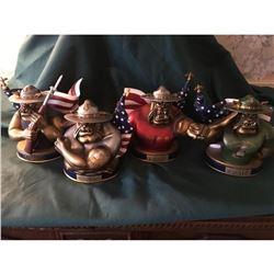 Large Lot Of USMC Limited Addition Figurines