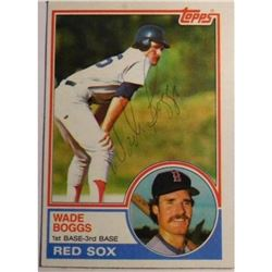 1983 (Rokie) Topps Baseball Card Autographed by Wade Boggs