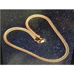 Gold Tone Necklace With 18k Gold Plated Clasp