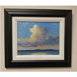 "Original Norman Brown 8""x 10"" - ""Lake Superior Thunder Head"" Oil On Panel"