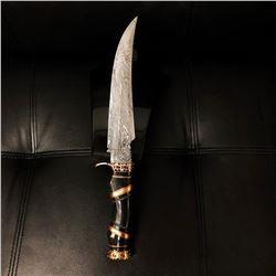 Black Handle Damascus Knife