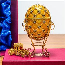 """1897 Coronation Royal Russian Egg - 7"""""""