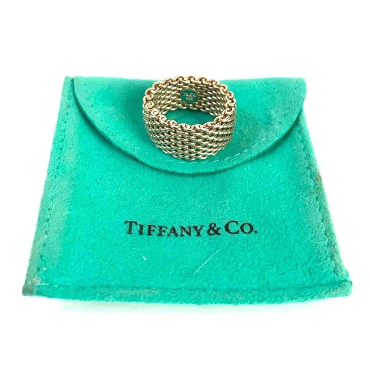 e186c1bc5ae86 Tiffany & Co Somerset Sterling Mesh Ring