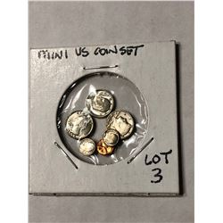 Mini US Coin Set has Eisenhower Dollar Kennedy Half Quarter Dime Nickel Penny