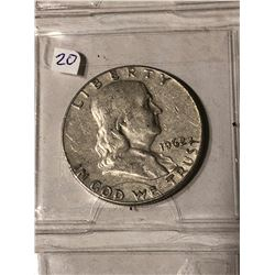 1962 D Silver Franklin Half Dollar Nice Early US Coin