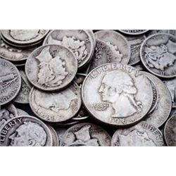 2 Silver Dimes Assorted Mixed Dates found in Bucket Estate Spirit Lake Idaho