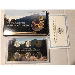 2004 US Mint Westward Journey Nickel Series Coin Set In Original Box with Paperwork