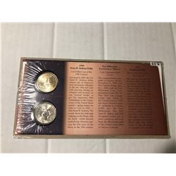 1999 to 2000 New Millennium Susan B and Sacagawea Dollars and Stamps