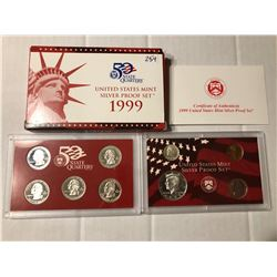 RARE 1999 S SILVER DCAM Proof Complete in Original Box with Paperwork