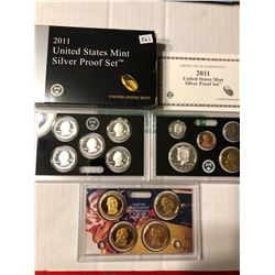 RARE 2011 S SILVER DCAM Proof Set Complete in Original Box with Paperwork