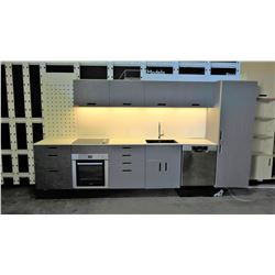 "Entire System: Kitchen Cabinets, Oven, Dish Washer, Refrigerator, Sink & Faucet (24"" Depth)"