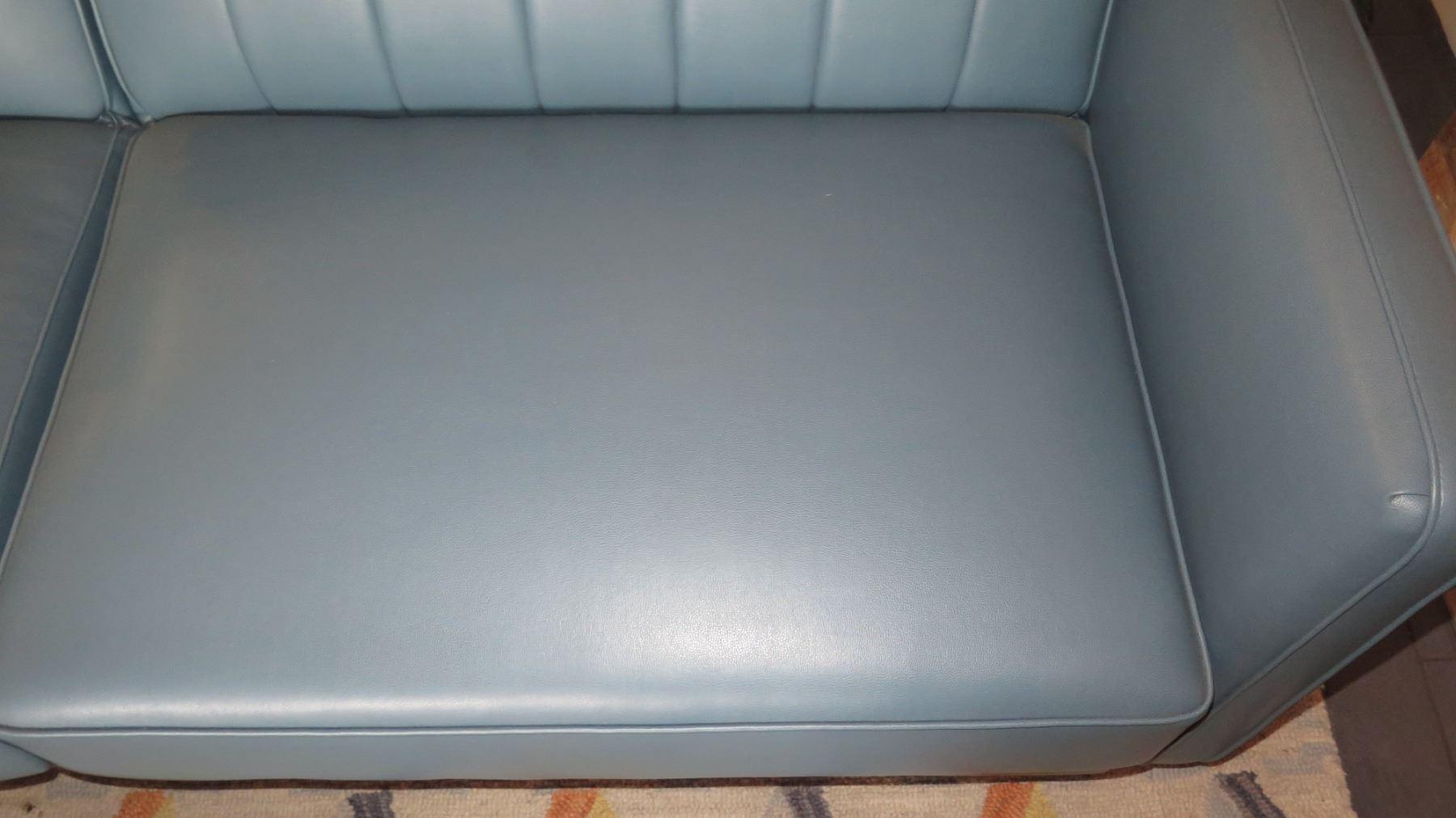 Upholstered Leather-Like Sofa Sleeper (Backrest Folds Down) 80\