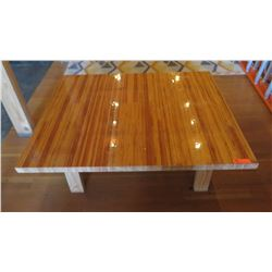 "Custom Coffee Table w/Glazed Wood Top 48""L x 40""W x 18""H"
